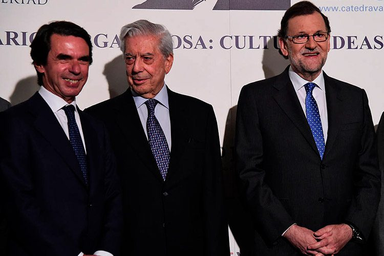 Vargas Llosa, Aznar y Rajoy